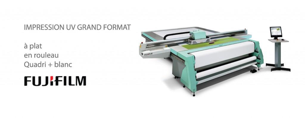 imprimante numerique UV grand format a plat et en rouleau