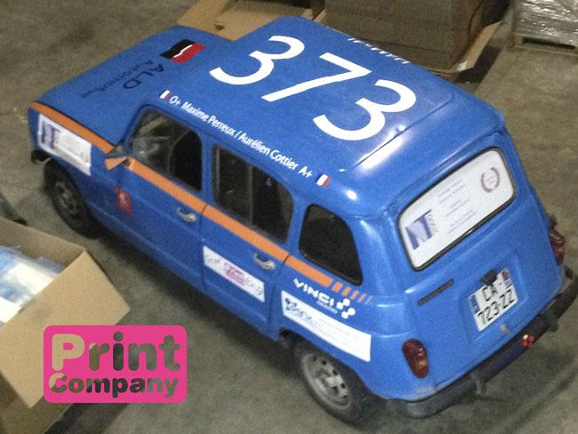 Sticker voiture de rallye