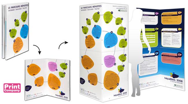 Paravent carton dépliant impression numérique à plat